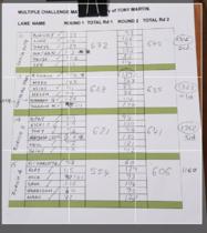 The final scores - sheet 1