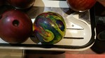 Bat Andrea's Psychedelic Bowling Ball